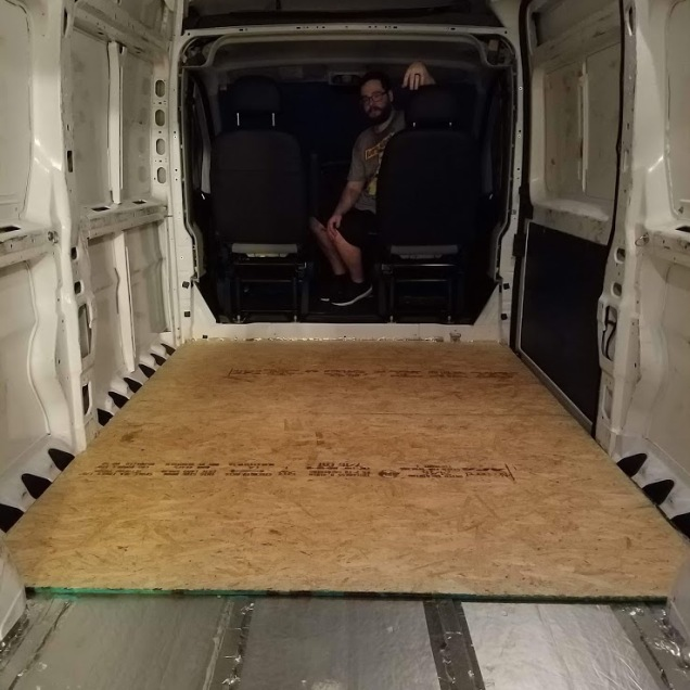 Van conversion flooring: frame and insulation – Just Edith